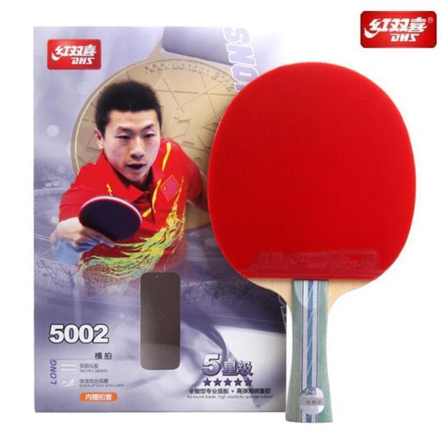 DHS 5 Star Table Tennis PING PONG Racket 5002 - Shake-Hand   Long Handle 4a00c57df2652