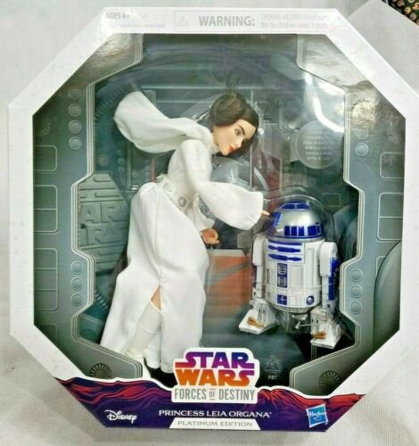 Hasbro Star Wars Forces De Destiny Princesse Leia R2-d2 Édition Platine Neuf 630509690930