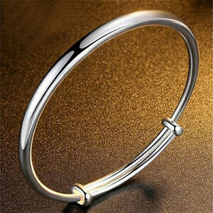 Fashion-Silver-Plated-Bangle-Royal-Bracelet-Gifts-For-Women-Classic-Jewelry-YNW