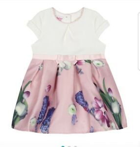 f850b8cc2d3755 Ted Baker - Baby Girls  Light Pink Floral Print Dress Size 6-9 ...