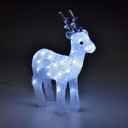 ® LED Rentier Weihnachts Deko Beleuchtung Acryl Licht Weihnachten Figur in.tec