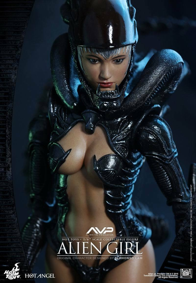 Hot Toys 1 6 Female Action Figure Alien Angel HAS002 AVP Alien vs. Predator