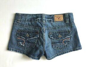 AMERICAN-EAGLE-Distressed-Denim-Shorts-Flap-Pockets-Women-039-s-2