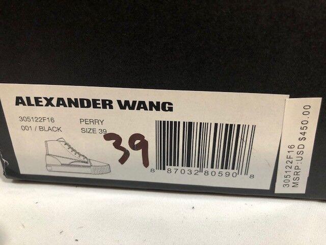 Para Mujer Nuevo en Caja Alexander Wang Wang Wang  Negro Gamuza alta Top tenis Perry US 3feafb