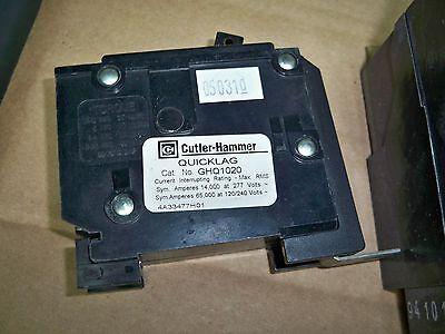 NEW TAKE OUT Cutler Hammer GHQ GHQ1020 1 Pole 277V 20 amp Circuit Breaker NTO