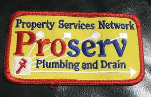 PROPERTY-SERVICES-NETWORK-EMBROIDERED-PATCH-PROSERV-PLUMBING-DRAIN-4-1-2-x-2-1-2
