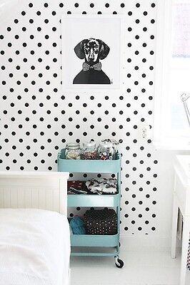 Self adhesive vinyl wallpaper polka dots removable mural, nursery wallpaper 003