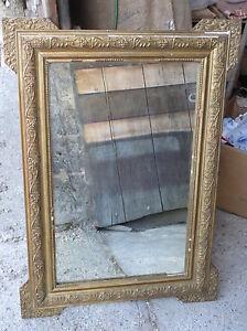 ancien miroir cadre bois et platre dor vintage french antique mirror ebay. Black Bedroom Furniture Sets. Home Design Ideas