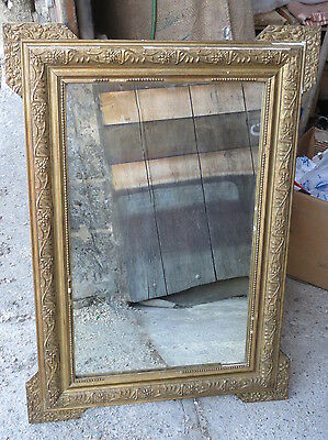 Antique Mirror Frame Wood And Plaster