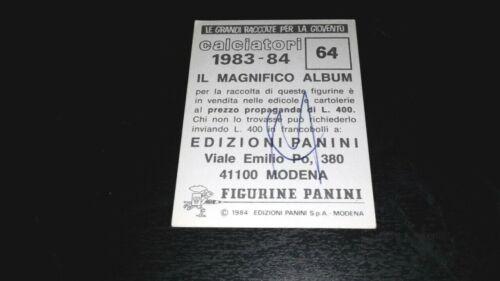 1983-84 Squadra FIORENTINA Calciatori Panini SCEGLI *** figurina con velina ***