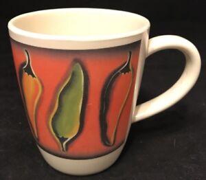 Clay Art Coffee Mug 16 Oz Peppers