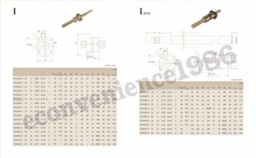 Ballscrew RM2005--900 mm Anti-ballscrew/&RM2005 Ballnu /&BF15//BK15 /& 2 coupering