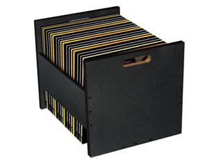 Atlantic 96636247 Record Crate Shelf, 15.40in. X 15.00in. 2.20in Black Fast ship