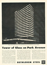 1952 Lever House Building Park Avenue Steel- Vintage Advertisement Print Ad J494