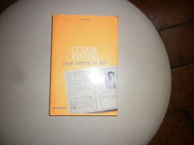 Una carta in più, Cesare Rimini -mondadori-passepartout- 1997 -raro!!!- a 698 -