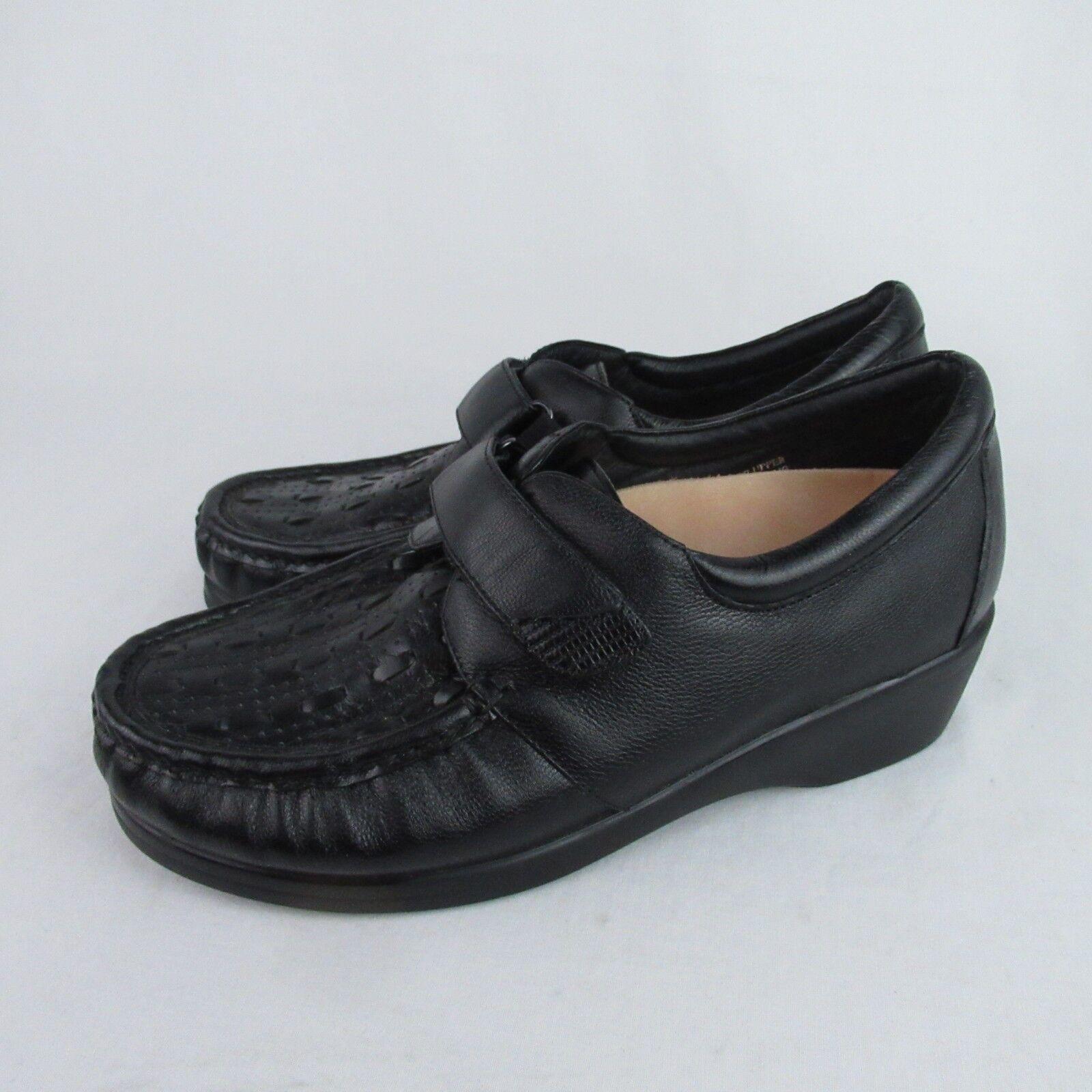 Nuevo abubilla Peregrino De Cuero Negro 7 de Ancho Extra Extra Extra Ancho diabéticos Comodidad Zapatos Stacey  104  en promociones de estadios