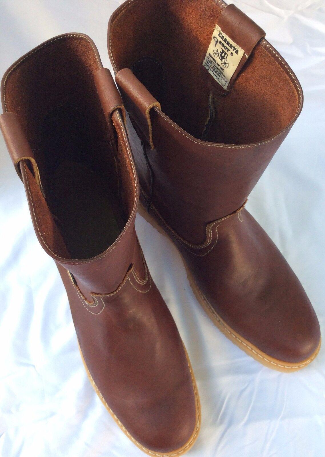 Uomini piu 'gli stivali da lavoro tirare in pelle pelle pelle marrone - bota de trabajo piel genuina cafe fb104d