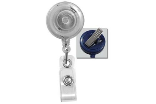 100 ID HOLDERS BADGE REELS USA Seller 16 COLORS CLEAR SWIVEL CLIP