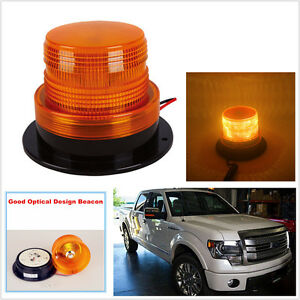 YELLOW  AMBER 10 LED Beacon Light Strobe Flashing Rotating Warning Car Bus Truck