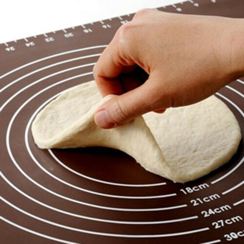 Silicone Baking Cake Dough Fondant Rolling Kneading Mat Liner with Scale 50x40cm