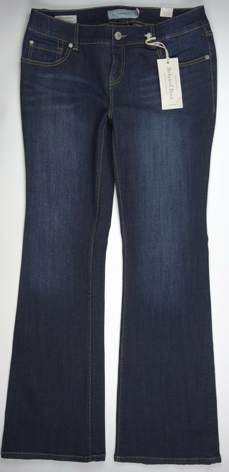 (.) TORRID  Womens  RELAXED BOOT bluee Moon Jeans  Size 10R NWT  64.50