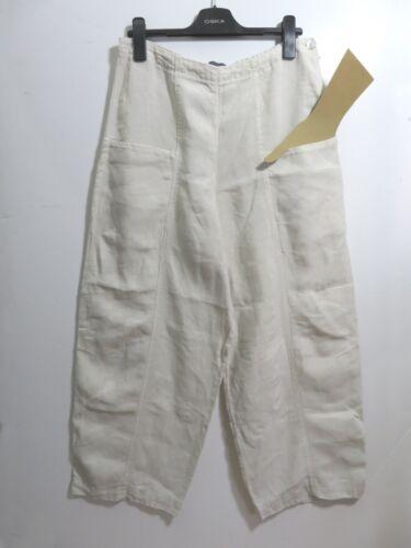 chiaro Oska taglia lino a 100 Arty Lagenlook Boho Quirky palloncino pantaloni 4 beige 8HdRqrHx
