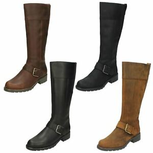 9748969dce6 Details about LADIES CLARKS ZIP LEATHER CASUAL KNEE LENGTH WARM WINTER  BOOTS ORINOCO JAZZ SIZE