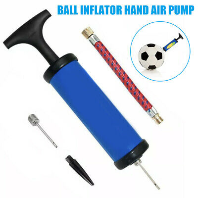 Ball Inflator Hand Air Pump W// Needle For Football Basketball Soccer Basketball