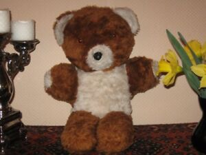 Old-UK-Bear-Copper-Brown-and-White-Plush-With-Glass-Eyes