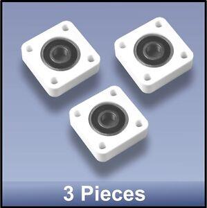Compact quality CNC 10mm 4 bolt square flange bearing block - 3pcs FREE SHIPPING