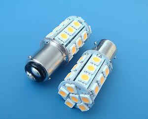 1x-BA15D-1142-1178-Warm-White-LED-Car-bulb-Boat-lights-24-5050SMD-DC12V-350LM