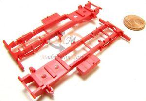 10x ALBEDO Ersatzteil Ladegut Rahmen Chassis Sattelzugmaschine rot H0 1:87- 1264