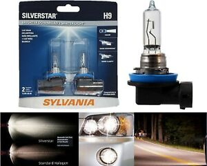 Sylvania-Silverstar-H9-65W-Two-Bulbs-Head-Light-High-Beam-Replacement-Upgrade-OE