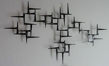 Signed Corey Ellis Art Modern Mid Century abstract wall metal sculpture C Jere