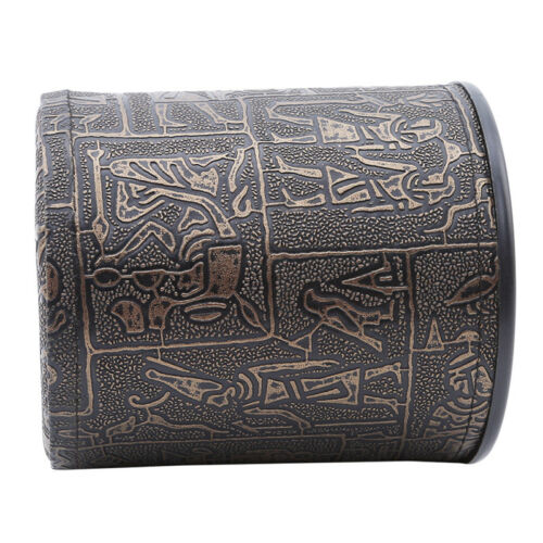 KTV Dice Cup Egyptian Pattern Game Dice Cup Entertainment Accessory Toy New OS