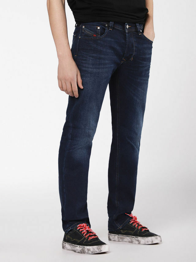 DIESEL DIESEL DIESEL Larkee Jeans, Wash 084VG, vita regolare, gamba dritta, Stretch Denim 6a6bac