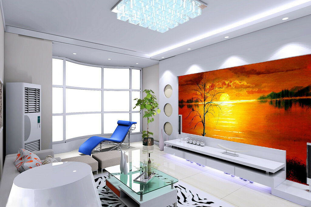 3D golden Sunset 83 Wall Paper Murals Wall Print Wall Wallpaper Mural AU Kyra