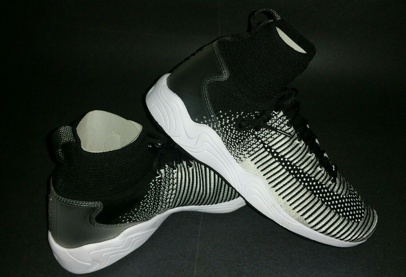 Nike Zoom Mercurial XI FK FC, Black/White, Comfortable Casual wild