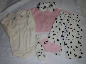 GYMBOREE Baby Girls 0-3 Month Oodles Of Poodles Shirt Bodysuit Choice NWT