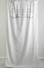 NOTRE DAME WEISS Vorhang 2x(110x240cm) Deko Gardine Landhaus Shabby Franske