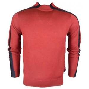 Emporio-Armani-Round-Neck-Pullover-Red-Navy-Knitwear-Jumper