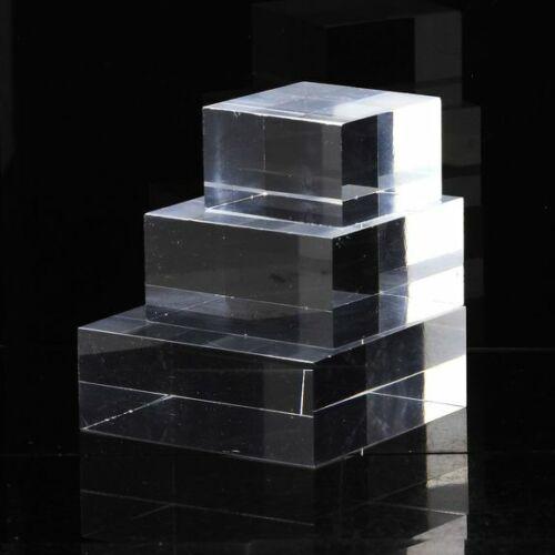 Sockel Verkaufsständer Acryl Halterung Für Minéraux 3 Stück 50 x 50 X 20 MM