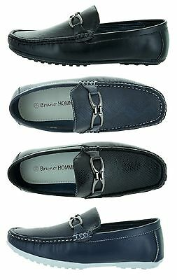 Bruno Homme Boss-2 Men's Summer Boat Shoes Casual Moccasin Slip On Loafers Deck