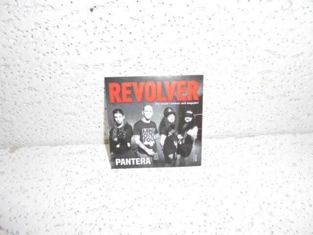 Pantera Revolver Magazine Heavy Metal Music Sticker RARE Dimebag