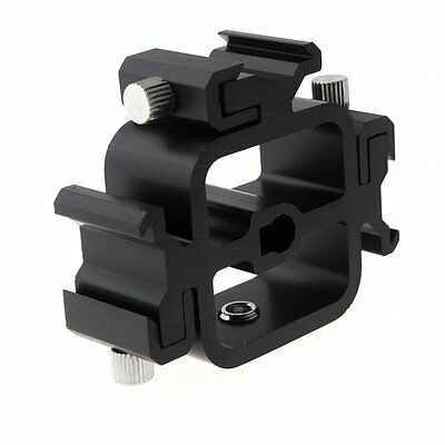 Aluminum Three Hot Shoe Mount Adapter Flash Holder Bracket - Light Stand umbrell