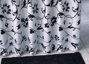 Tessuto tenda della doccia nero bianco decorazioni cm