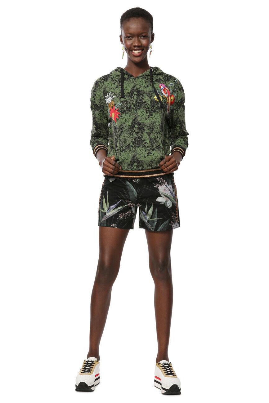 Desigual Klimt Pull Capuche Tropical Leaf & Bird S-XL UK 10-16