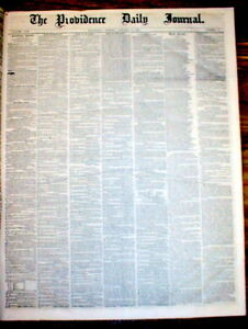 Lot of 20 original 1850-1859 newspapers from Decade prior to the CIVIL WAR Start