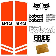 Bobcat 843 Skid Steer Set Vinyl Decal Sticker Kit 9 Pc Set Free Applicator Usa