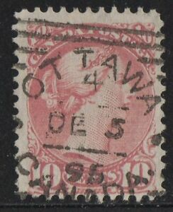 MOTON114-45-Small-Queen-10c-Canada-used-well-center